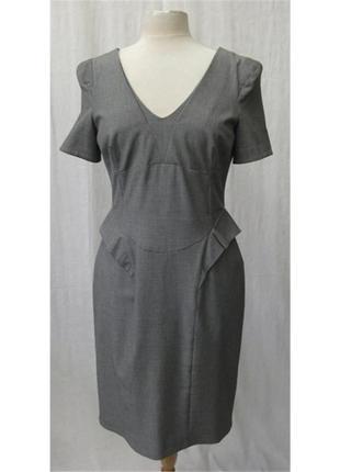 Распродажа! oasis серое базовое деловое платье футляр, р.14-40...