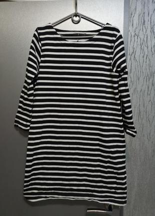 Платье в морском стиле из хлопка