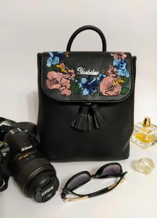 Модный женский рюкзак, городской черный рюкзак