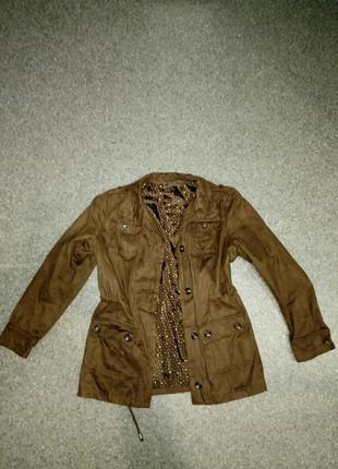 Куртка пиджак из искуственной замши
