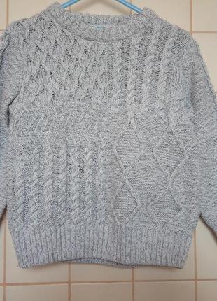 Хлопковый вязаный свитер