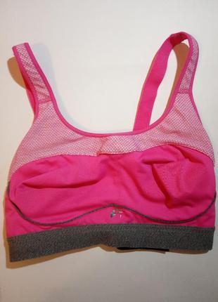Розовый спортивный бюст, топ