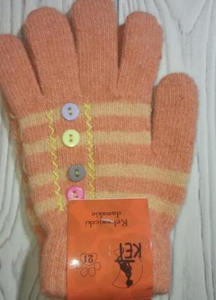 Теплый вязаные перчатки