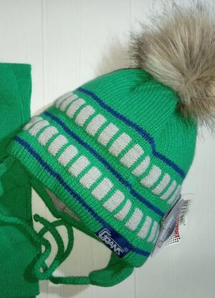 Зимний комплект, шапка и шарф
