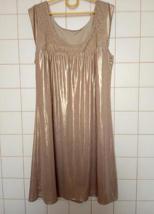 Miss selfridge золотое платье