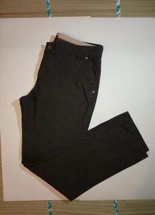 Мужские классические брюки штаны тонкие летние в мелкую полоск...