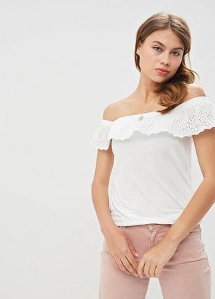 Женские блузы с открытыми плечами топ с воланами вискоза 💯 три...
