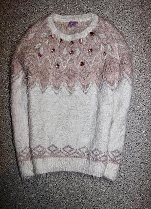 Джемпер травка свитер одежда девочка