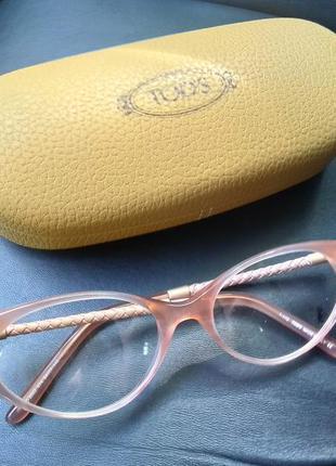 Новая оправа премиум бренда tod's очки. пудра кошачий глаз кож...