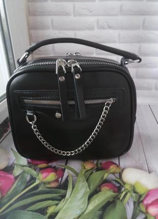 Женская кожаная сумка клатч кожаный шкіряний гаманець