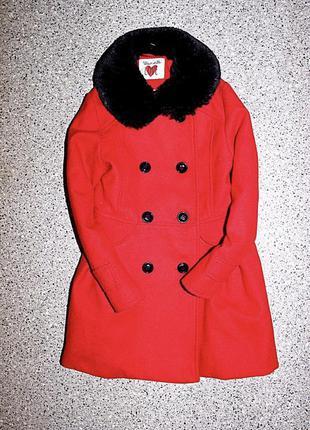 Пальто с мехом одежда для девочки 5-6 лет