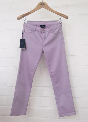 Новые укороченные джинсы скинни цвет лаванда 26р 27р оригинал