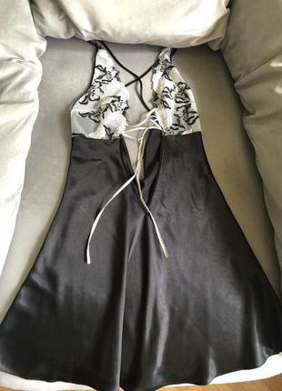 Сексуальный пеньюар с вышивкой, ночнушка от итальянского бренд...