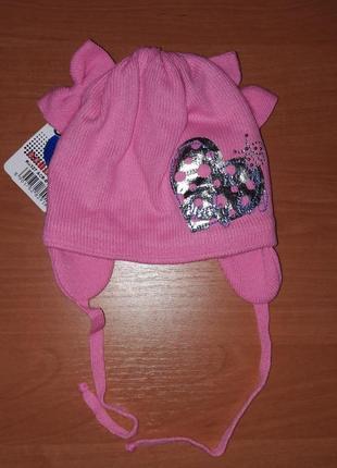 Детская шапочка для девочки тм гранс весна-осень