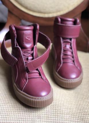 Новые кожаные высокие кроссовки, высокие кеды, спортивные боти...