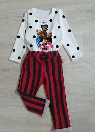 Стильный костюм для модных девочек