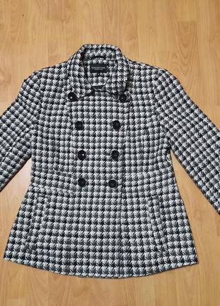 Пиджак теплый, жакет, гусиная лапка