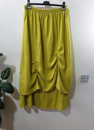 Льняная юбка макси длинная юбка