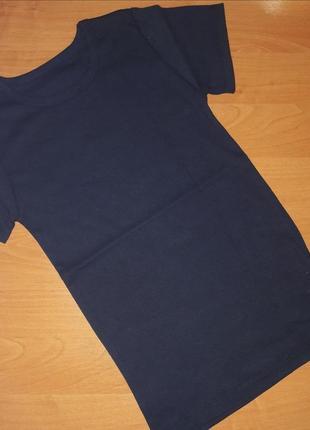 Футболка тм фламинго для мальчика  темно-синяя ткань ластик р....