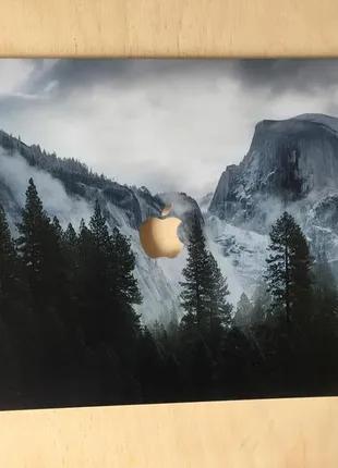 Пластиковый чехол с принтом лес, горы на Macbook Pro 15 2016-2019