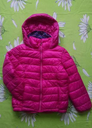 Демисезонная розовая куртка для девочки 5-6 лет
