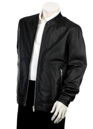 Кожаная мужская куртка Minimum Дания натуральная кожа р. L бомбер