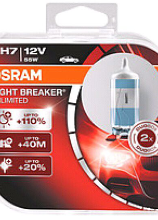 "Лампа 12V H7 55W +110% Night Breaker ""Osram"""
