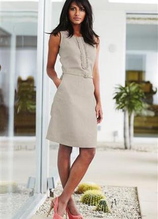 Платье next лен размер 38