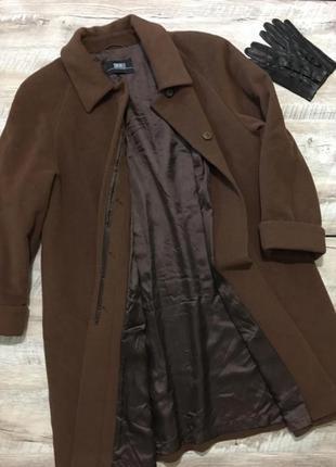 Стильное шерстяное пальто большого размера 🌿италия