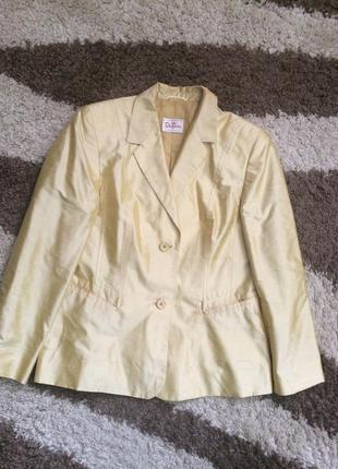 Шикарний шелковий пиджак  шелк чесучи