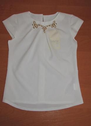 Шикарная блузка с коротким рукавом для девочки
