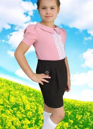 Нарядная блузка с коротким рукавом