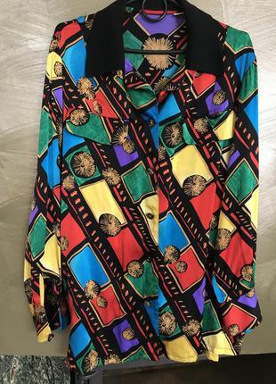 Блуза шёлковая эксклюзив дизайнерская hong kong размер 4 или l/xl