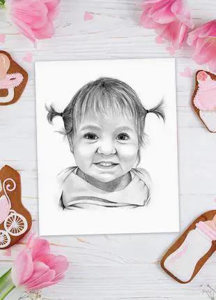 Подарок на День рождение Свадьбу Коллеге Портрет по фотографии