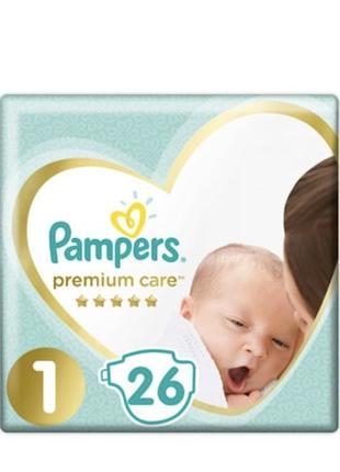 Підгузники Pampers Premium Care Newborn, розмір 1 (2-5 кг)