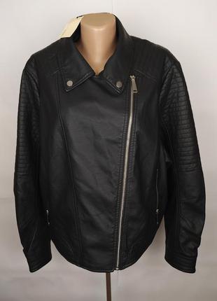 Куртка кожанка косуха крутая стильная большого размера новая u...