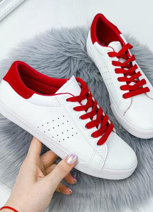 Кроссовки женские tanny белый + красный