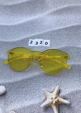 Желтые очки без оправы к. 2320