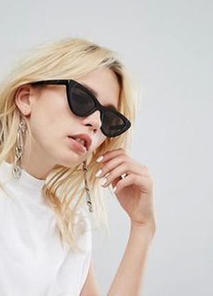 Крутые очки/ретро/кошка/черный/тренд/стильно/модно
