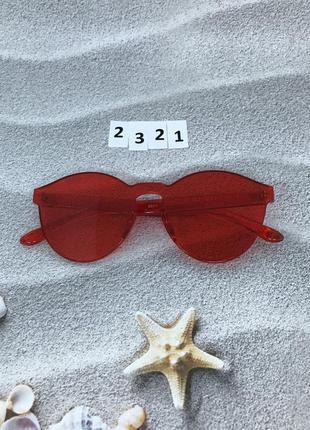 Красные очки без оправы к. 2321