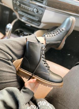 Ботинки демисезонные черные весенние
