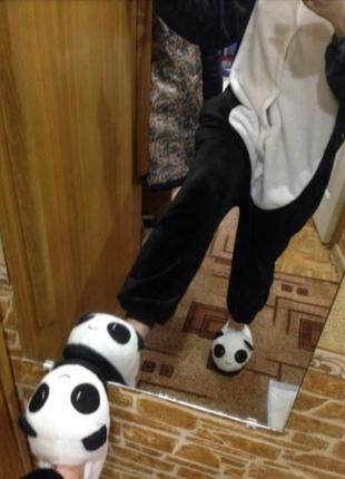 Мужские тапки панда с задником