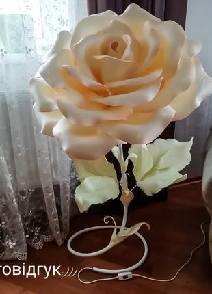 Квітка Світильник подарунок/ Светильник подарок 8 березня/ торшер