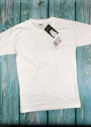 Белая футболка ripndip• мужская футболка с кармашкой• ориг бирки