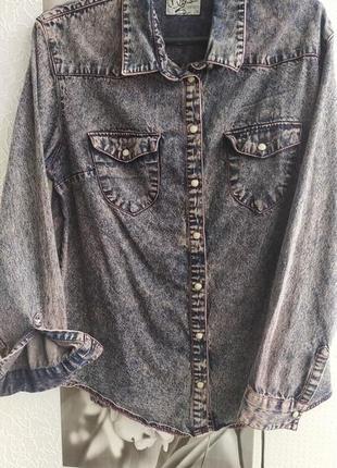 Потрясная джинсовая женская рубашка Miss Selfridge