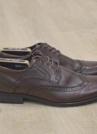 Мужские туфли m.d.h rieker кожа оригинал коричневые