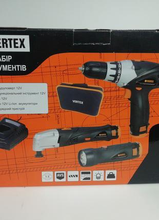 Набор аккумуляторный Vertex шуруповерт и многофункциональный инст