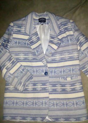 Пальто с шерстью овер сайз размер м