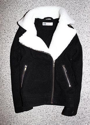 Куртка косуха дубленка одежда девочка h&m