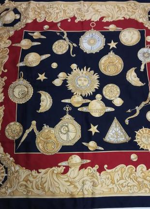 Итальянский винтажный платок под шелк (в стиле hermes)
